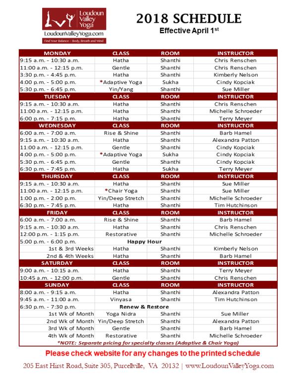 LVY Schedule_April2018