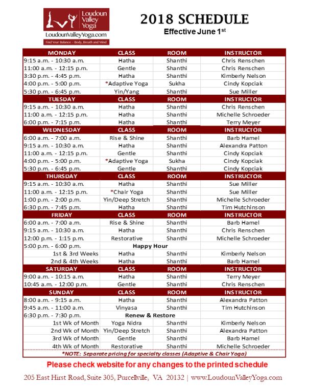 LVY Schedule_June2018