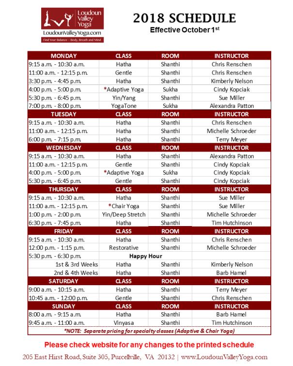 LVY Schedule_Oct2018