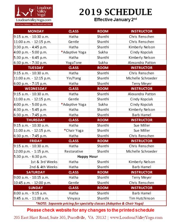 LVY Schedule_Jan2019