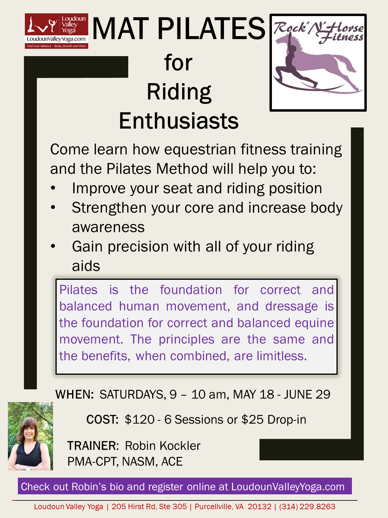 Mat Pilates for Riding Enthusiasts May2019